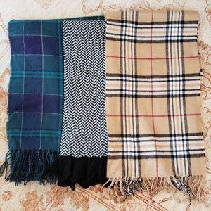 Winte Scarves Lot of 3